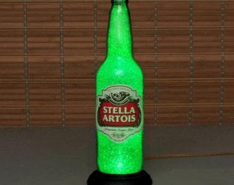 Stella Artois Belgium Lager Big 24oz Beer Bottle Lamp Bar Light man cave
