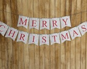 Merry Christmas Banner, Paper Banner