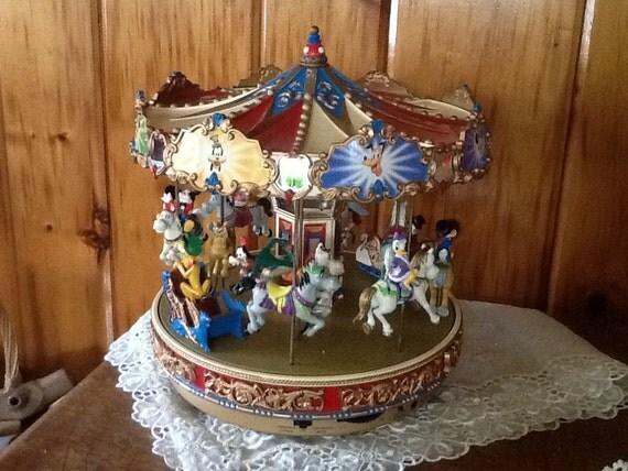 Mr Christmas Disney Mickey Holiday Carousel By