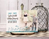 Teal Save the Date Card �...