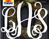 """Large (18"""") Wooden Monogram-Ready to Paint-Monogram your Home"""