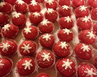 Christmas Cake Balls or Cake Pops Trufflew Texture 1 dozen