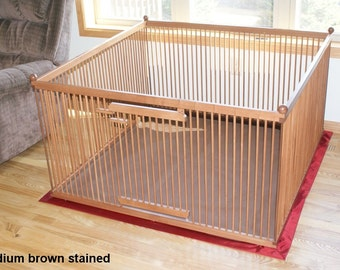 Popular items for indoor dog kennel on etsy for Ready dog kennel