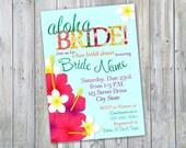 Aloha Bride Bridal Shower Luau invitation - Printable!