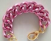 Ultra Bold: pink Chunky Bracelet, Chunky jewelry, Chunky bracelet