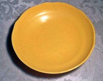 Vintage Melamine Yellow Melmac Scalloped Edge Soup Bowl by Moreware