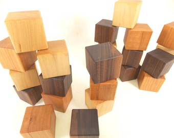 48 Organic Wooden Blocks - Building Block Set - Bannor Toys