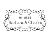 Wedding stamp,save the date stamp,SELF INKING custom address stamp,personalized stamp,WS02