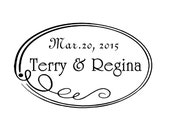 Wedding stamp,save the date stamp,SELF INKING custom address stamp,personalized stamp,WS04