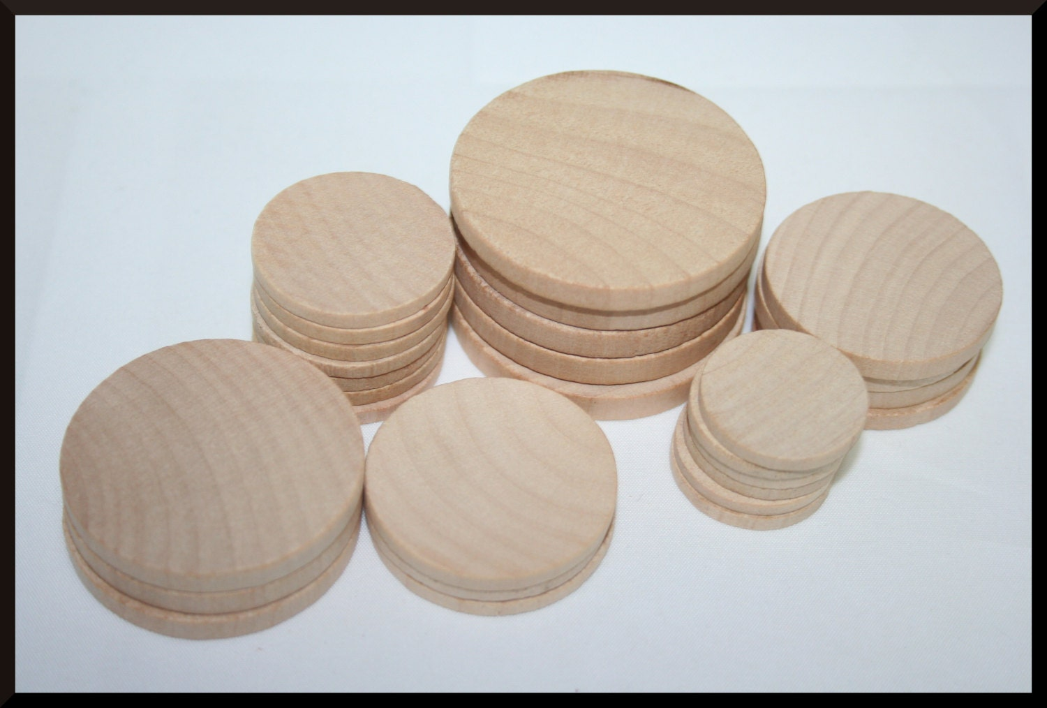 Wooden circles for crafts -  0 25