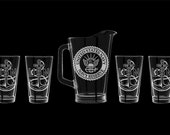 US Navy Reserve Beer Pitcher Set, customized USN sailor Navy chief officer cpo mcpo scpo promotion retirement
