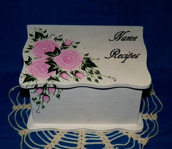 Decorative Recipe Box Glamorous Hand Painted Personalized Wood Recipe Box Decorative Custom Decorating Inspiration