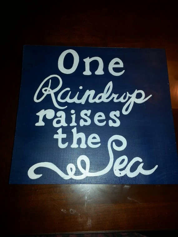 One raindrop - sign