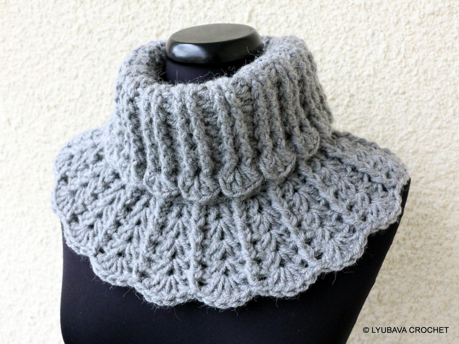 CROCHET Neck Warmer PATTERN Winter Scarf Chunky by LyubavaCrochet
