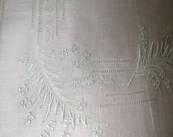 "No. 200 LOVELY ANTIQUE White Swiss Appenzell Hand Embroidered Handkerchief, 11 x 11"", White, No. 2"