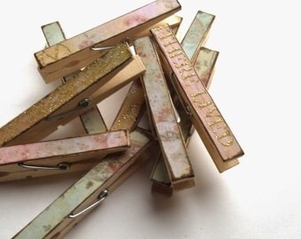 Once upone a time theme decoupage clothespins set of 10