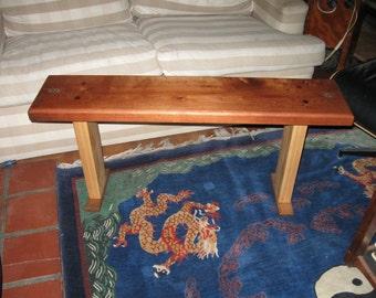 cedar, cypress, teak, paduak, inlay, custom made unique bench
