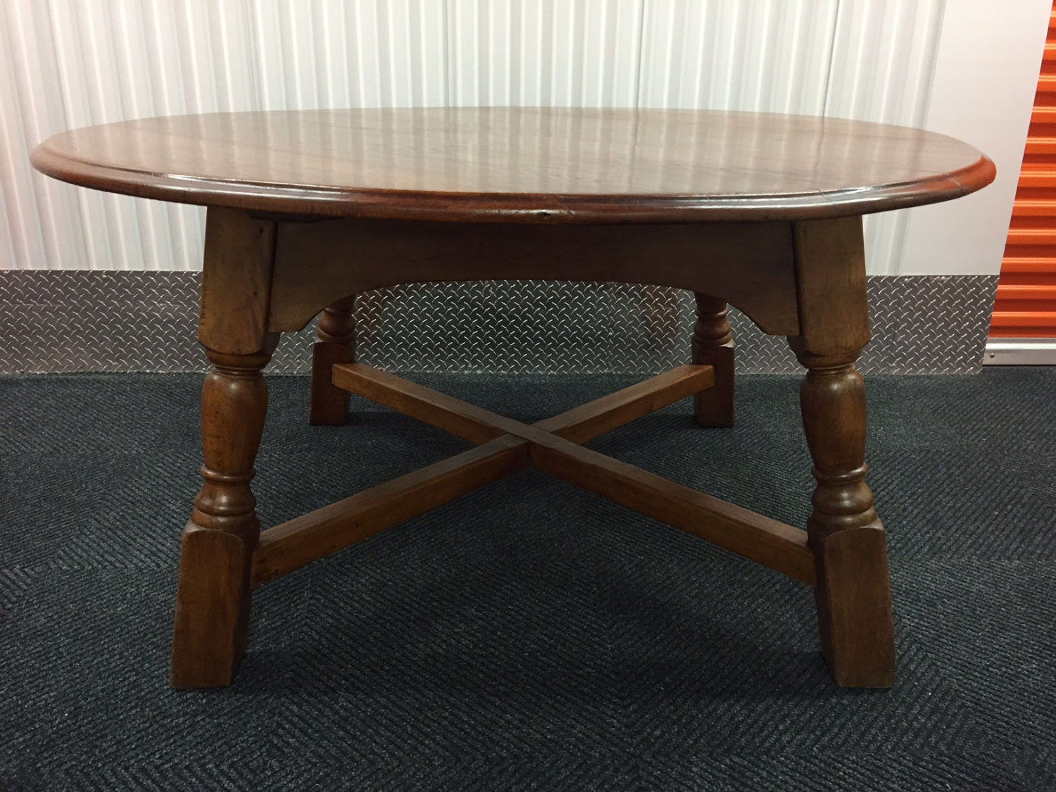 59 antique style solid oak round country dining table