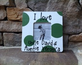 I love my Aunt and Uncle with name personalization -- hand painted picture frame -- made to order