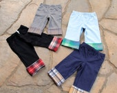 Baby boy pants, Cuff Cotton Pants - Pick your own - Coordinate with your Antsy Pants Tie Bodysuit