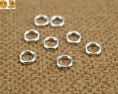 100 pcs 925 Sterling Silver Round Open Jump Rings Spacer Beads 4mm