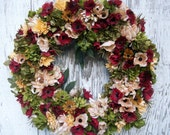 Fall Wreath, Autumn Wreath, Harvest Wreath, Fall Floral Wreath, Holiday Wreath, Floral Wreath, Autumn Garden Wreath, Thanksgiving Wreath