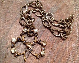 Shamrock Clover Bracelet Antique Charm Victorian Vintage Bridal Irish Ireland