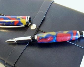 Hand-turned acrylic Baron rollerball pen
