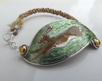 Hare bracelet, golden brown