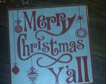 Merry Christmas Y'all... Ceramic Tile