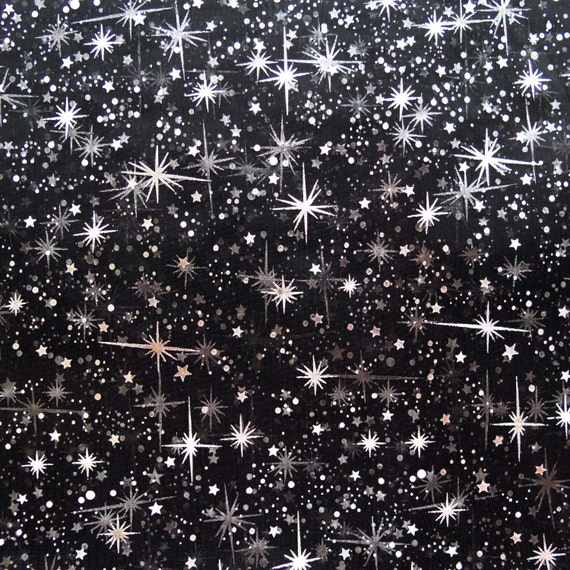 Star bursts sheer organza black 58 inch wide fabric by the for Star fabric australia