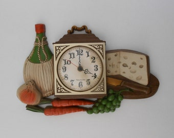 Vintage beautifully decorated New Haven wall clock