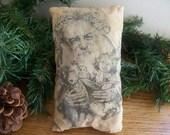 Primitive Vintage Santa Claus Pillow Tuck