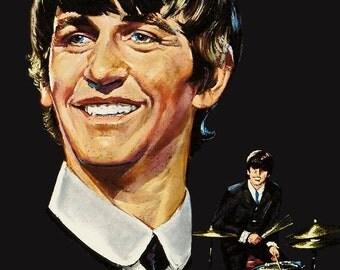 Beatles Ringo Starr Capitol Reproduction Promo Portfolios Stand-Up Display