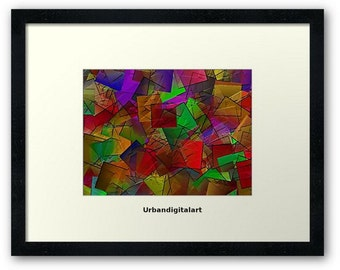 Squared 2-LOW COST--Downloadable Geometric ArT-Will look Beautiful On Any Wall At Home Or The Office