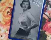 Rare Vintage Advertisement Playing Cards Sweater Pin Up Beauty Blue