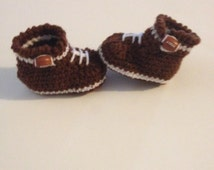 Crochet Baby Football Booties , Baby Boots , Baby Booties Baby Shoes ,Made To Order