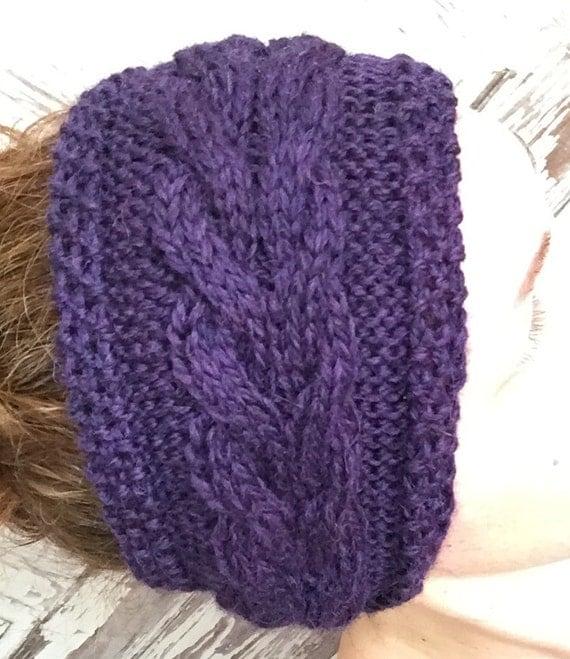 Beginner Ear Warmer Knitting Pattern : KNITTING PATTERN Cabled Corn Rows Headband Ear Warmer Baby ...