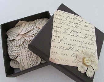 box full of paper hearts 500 heart punches die cut confetti french novel