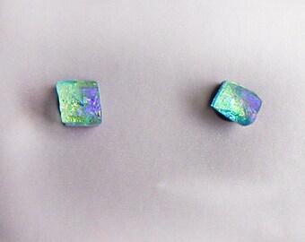 Hypoallergenic Titanium Fused Glass Post Earrings