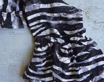 Zebra Lace Leggings, Lace Leg Warmers, Black and White Zebra Print Lace Leg Warmers, Zebra, Leg Warmers