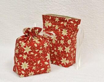 Gift Bag / Poinsettia / Item BG14