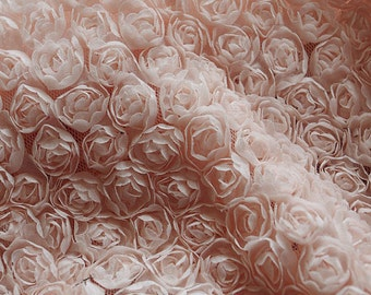 SALE peach Pink Rosette Fabric, Photography backdrop, Wedding prop, chiffon rosette fabric