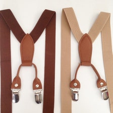 Boys Suspenders Amp Bowtie Brown Toddler Suspenders Bow Tie