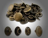 Line 20 Snaps Antique Brass Plated 50pk #115-126815