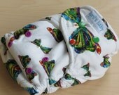 One Size Hybrid Fitted Cloth Diaper - The Hungry Caterpillar