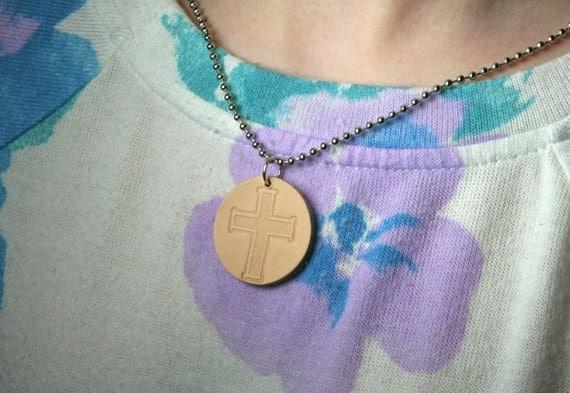 Cross Essential Oil Diffuser Necklace