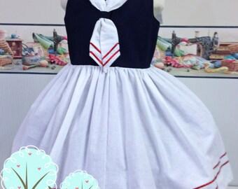 Minnie Sailor Dress, Cruise Vacation Dress, Disney Cruise, Disney Vacation Dress, Summer Vacation,  Sailor Dress,  Princess Dress Up