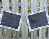 Custom Fabric Chalkboard Placemats-Set of 2