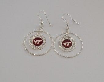 va tech earrings
